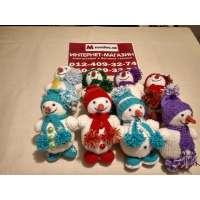 Новогодняя Ёлочная игрушка Подарок ручной работы (снеговик)