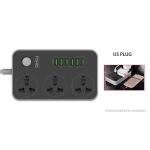 Удлинитель Ldnio 3 порта + 6 USB carger 2м кабель (SC3604)