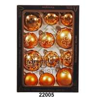 Yeni il şarlari 12 balls Royal Christmas Gold Shiny Mat Deco 60/80 mm (22005)