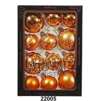 12 Новогодних шаров Royal Christmas - Золотистые (22005)