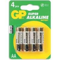 Batareyalar GP battery Super Alkaline AA(4) 15A-2UE4