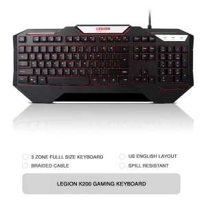 Клавиатура Lenovo Legion K200 USB Gaming (GX30P93887)