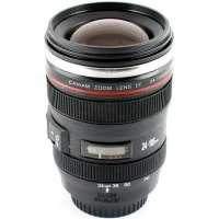 Foto obyektiv formasında mikserli fincan (Lens black)