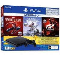 Sony PlayStation 4 1TB + 3 Games + PS Plus Black