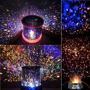 Gecə işığı LED lampa ulduzlu göy (Star Master blue)