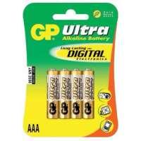 Batareyalar GP battery Ultra Alkaline AAA(4) 24AU-2UE4