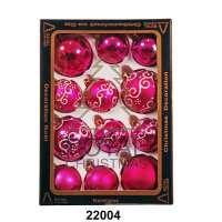 Yeni il şarlari 12 balls Royal Christmas Pink Shiny Mat Deco 60/80 mm (22004)