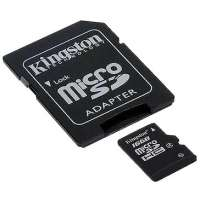 Карта памяти Kingston 16GB microSDHC Class 4 Flash Card (SDC4/16GB)