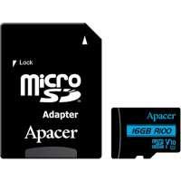 Карта памяти Apacer 16 GB microSDHC UHS-I U1 V10 Class 10 + SD adapter (AP16GMCSH10U6-R)