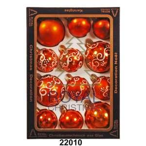 12 Новогодних шаров Royal Christmas - Оранжевые (22010)