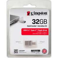 Флеш память USB Kingston DataTraveler microDuo 3C / 32GB (DTDUO3C/32GB)