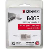 Флеш память USB Kingston 64GB DT microDuo 3C (DTDUO3C/64GB)