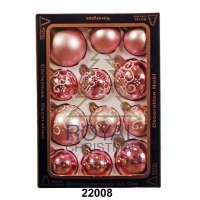 12 Новогодних шаров Royal Christmas - Светло Розовые (22008)