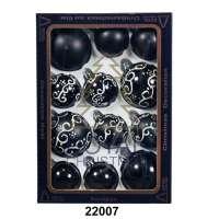 12 Новогодних шаров Royal Christmas - Чёрные (22007)