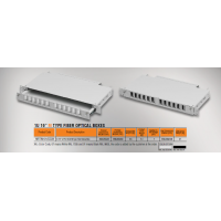 "Mirsan 1U 19"" 12 Port SCD, M Type Fiber Optical Box (MR.FOM1U12SCD.07)"