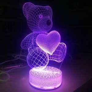 3D Ночник в форме медвежёнка