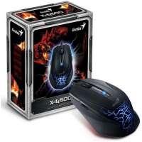 Проводная мышь Genius X-G500, 6B, USB, Blue (31010163101)