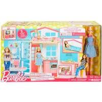 Игра MATTEL Портативный домик Barbie с куклой (DVV48)