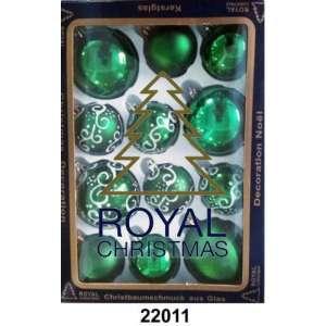 12 Новогодних шаров Royal Christmas - Зелёные (22011)