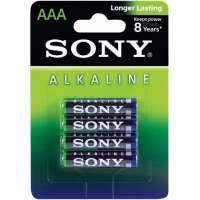 Batareyalar Sony alkaline batteries AAA(4) AM4L-B4D