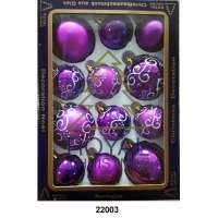 Yeni il şarlari 12 balls Royal Christmas Purple Shiny Mat Deco 60/80 mm (22003)