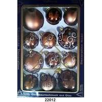 12 Новогодних шаров Royal Christmas - Коричневые (22012)