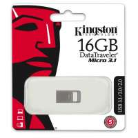 Флеш память USB Kingston 16GB DTMicro USB 3.1/3.0 Type-A metal ultra-compact drive (DTMC3/16GB)