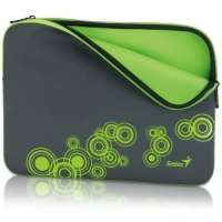 "Сумка для ноутбука Genius GS-1401, Gray+Green (13~14"" Notebook Sleeve) (31280049102)"