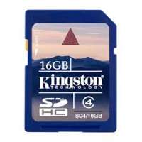 Карта памяти (SD) 16GB SDHC Class 4 Flash Card (SD4/16GB)