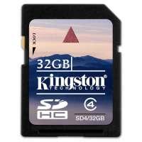 Карта памяти (SD) 32GB SDHC Class 4 Flash Card (SD4/32GB)