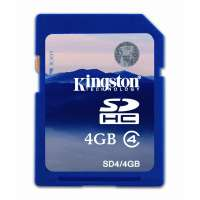 Карта памяти (SD) 4GB SDHC Class 4 Flash Card (SD4/4GB)