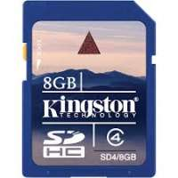 Карта памяти (SD) 8GB SDHC Class 4 Flash Card (SD4/8GB)