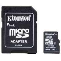 Карта памяти (SD) 8GB microSDHC Class 4 Flash Card (SDC4/8GB)