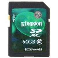 Карта памяти (SD) 64GB SDXC Class 10 Flash Card (SDX10V/64GB)