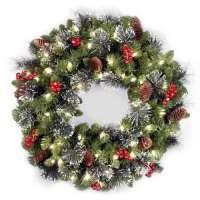 kupit-Royal christmas aston wreath with led (90sm)-v-baku-v-azerbaycane