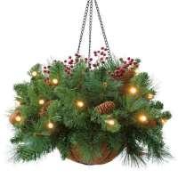 kupit-Royal Christmas HANG Basket(30sm)-v-baku-v-azerbaycane
