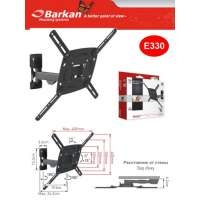 "Кронштейн для телевизора Barkan LCD 3 movement Wall Mount 56"" Bl (E330.B)"